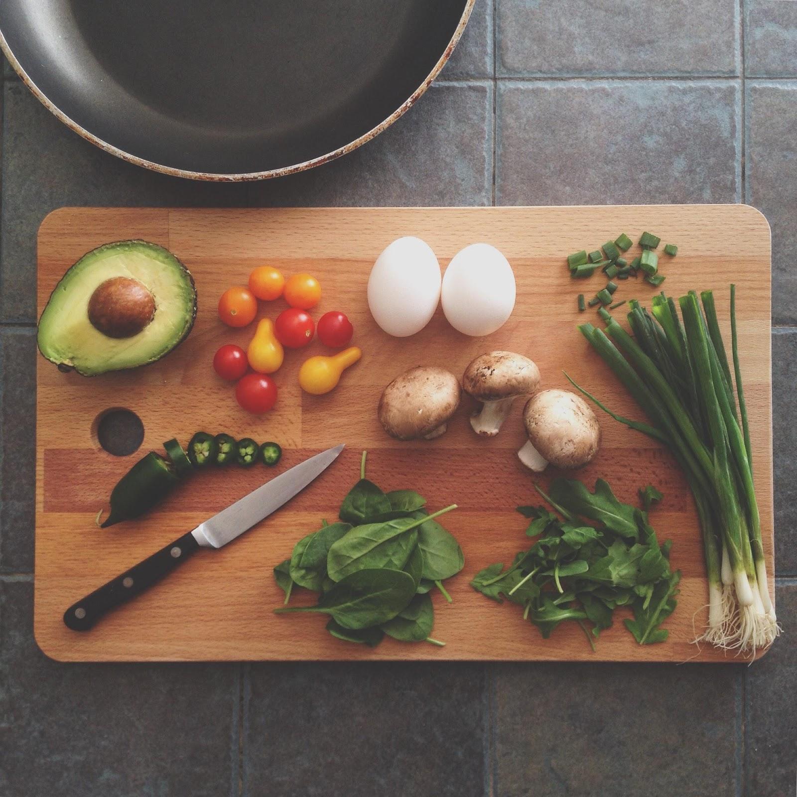 food on a cutting board